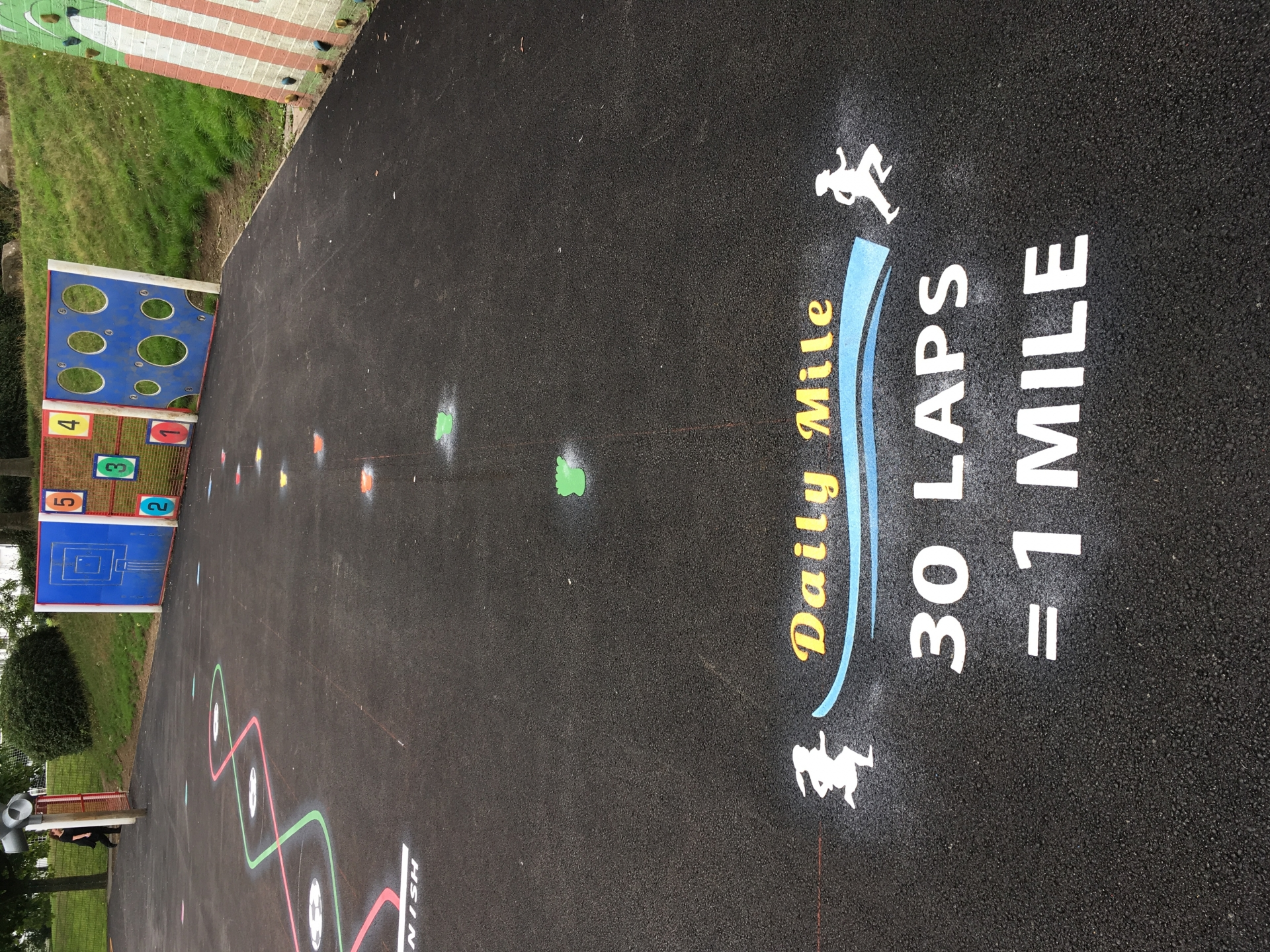 PLAYGROUND MARKINGS DAILY MILE
