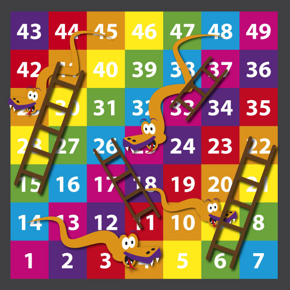 1-49 Snakes & Ladders 2.1m x 2.1m Solid