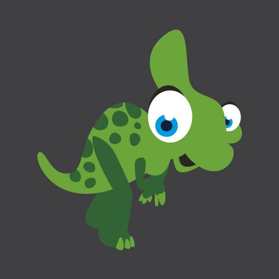 Dinosaur 1    1m x 1m