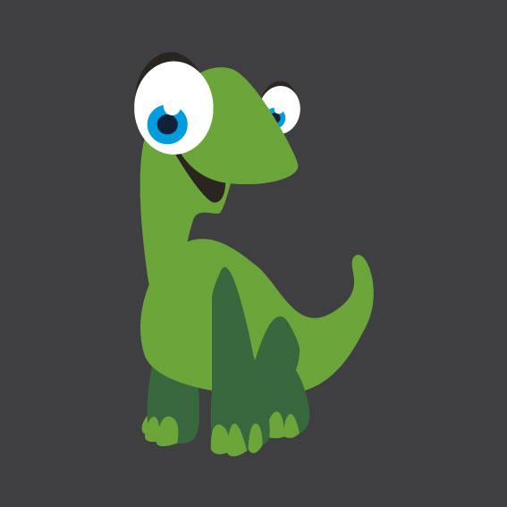 Dinosaur 3    1m x 1m