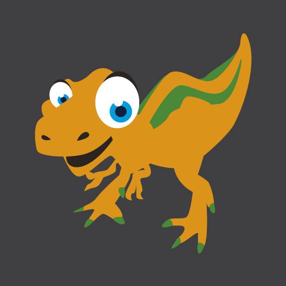 Dinosaur 8    1m x 1m