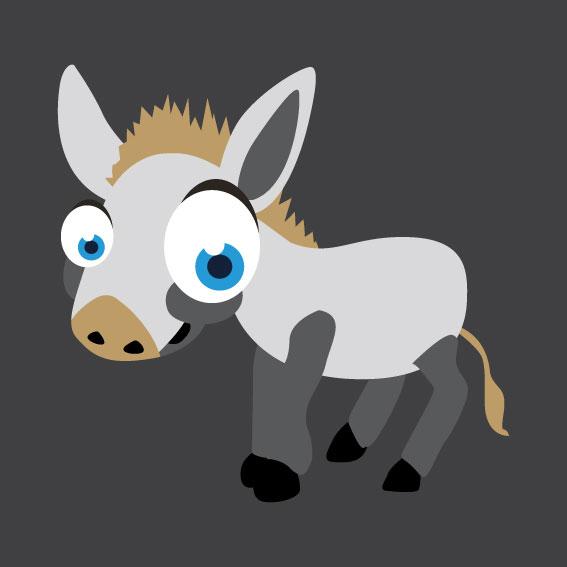 Donkey 1m x 1m