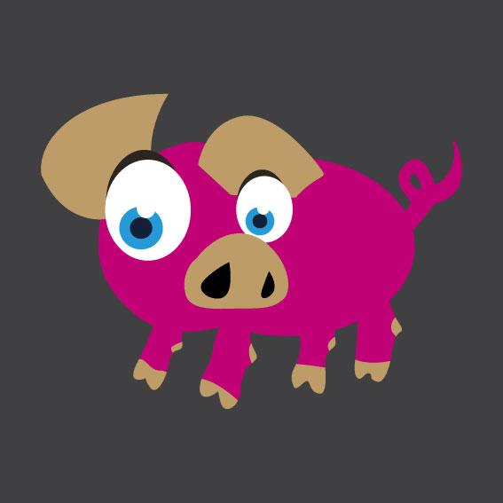 Pig 1m x 1m