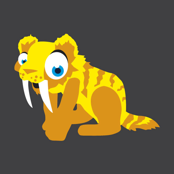 Sabre Tooth Tiger 1m x 1m