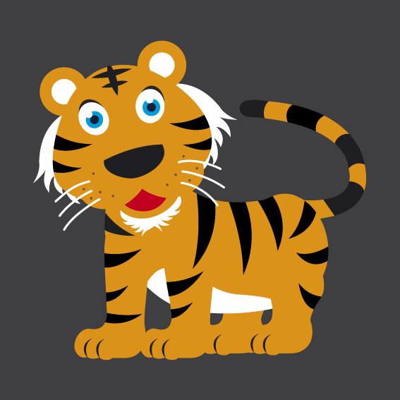 Tiger 1m x 1m
