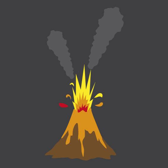 Volcano 1m x 1m