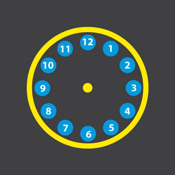 Clock 3m Diameter