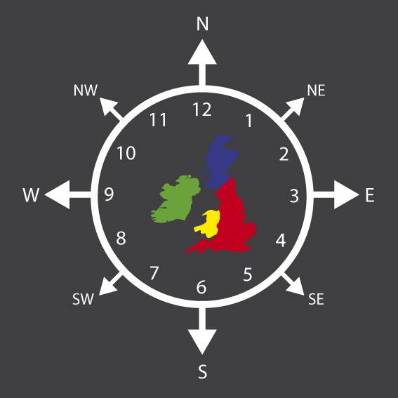 Compass Clock Map 3m Diameter