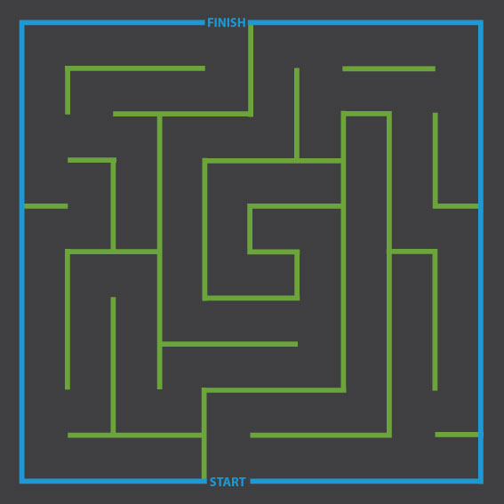 Square Maze 5m x 5m