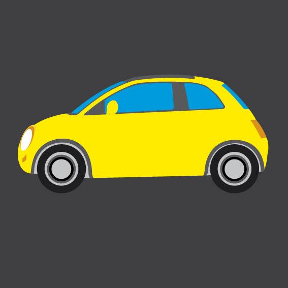 Car  0.75m x 0.35m