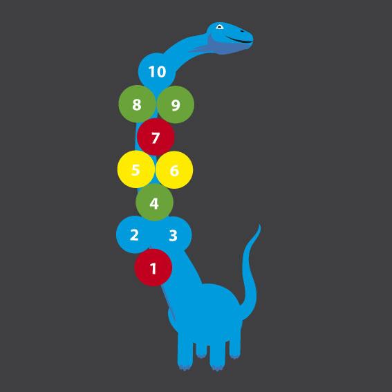 Dinosaur Hopscotch 4m x 1.1m