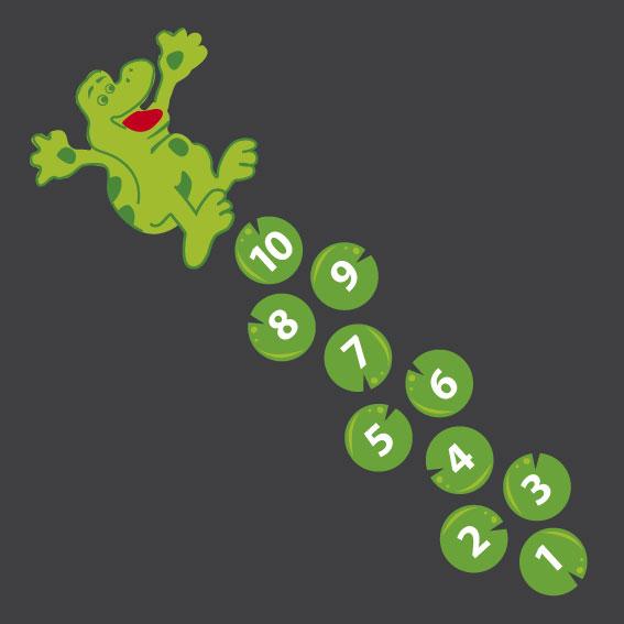 Frog Hopscotch 4m x 0.8m
