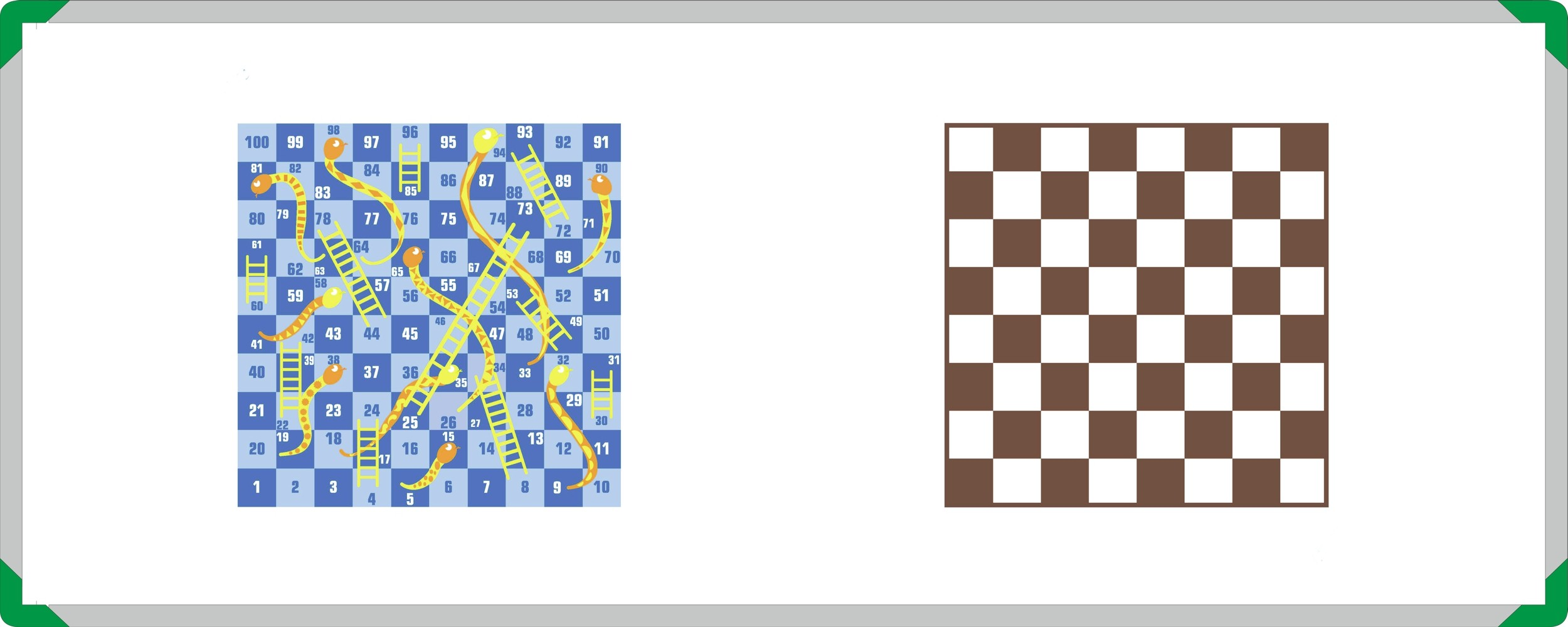 Snakes and Ladders with Draughts