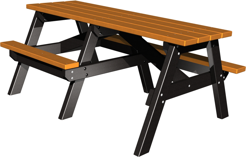 Senior A- Frame Picnic Table with Wheelchair Access ( 2 Tone)