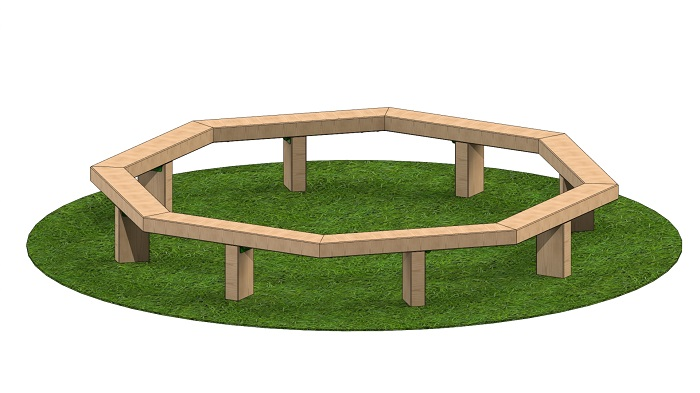 Octagonal Tree Seating 3m