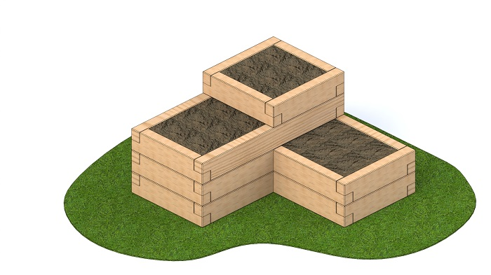 3 Tier sleeper Planter 2.1m