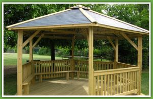 Gazebo With 2 Stages And Seating