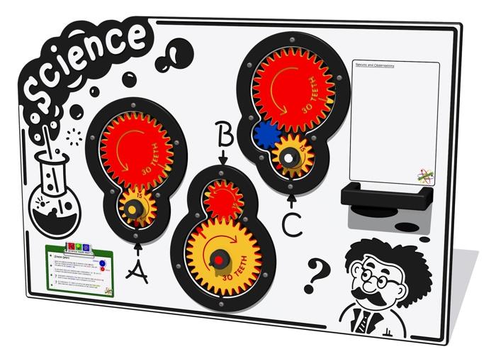Scientific Gears Play Panel