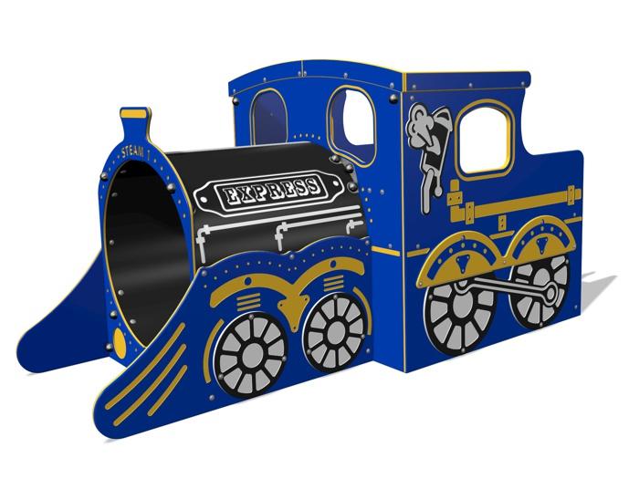 Steam Express Train Engine