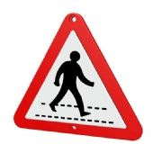 Zebra Crossing Street Sign