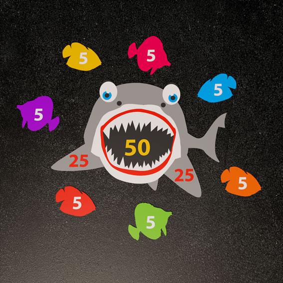 Shark Target  2.5m x 2m