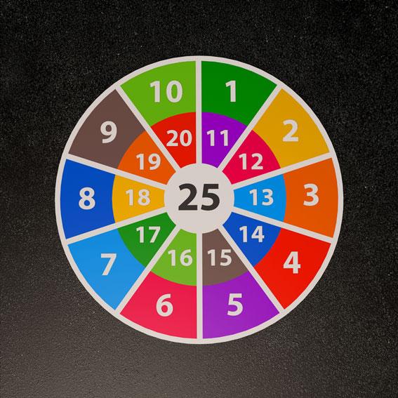 Target 1-25 Solid 3m Diameter