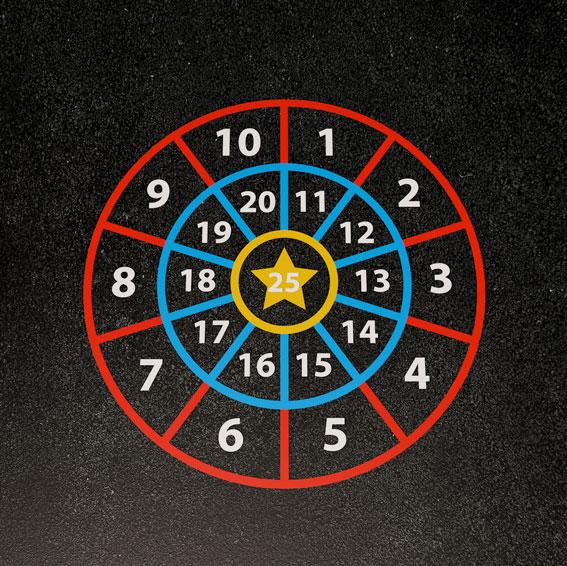 Number Target 2.5m Diameter
