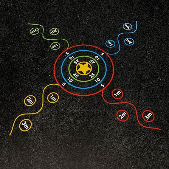 4 Way Target 7.5m x 7.5m