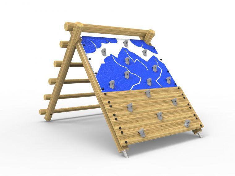 Premium-A-Frame Rock Wall & Log Climber- Large