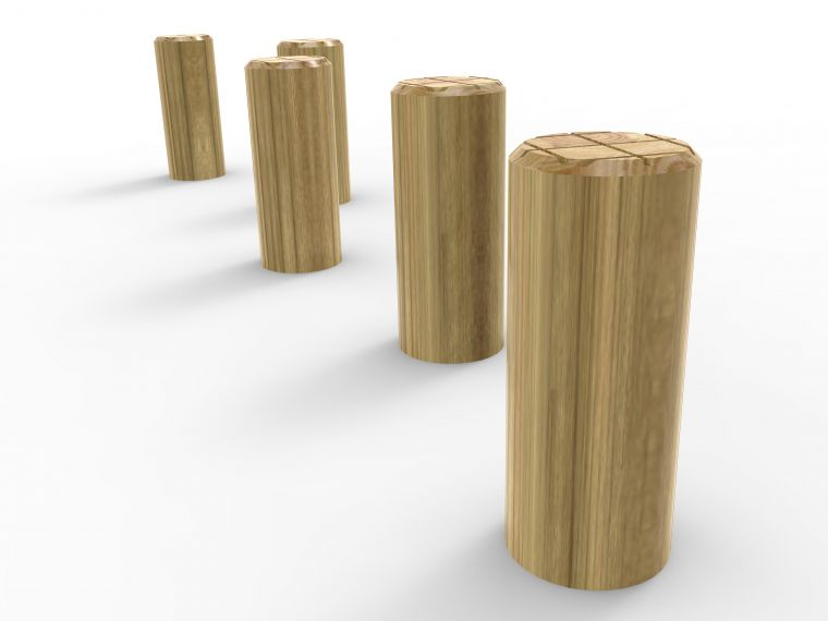 Set of 5 Stepping Logs