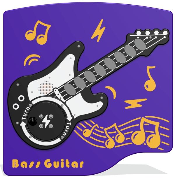 Rotogen Bass Guitar Musical Play Panel