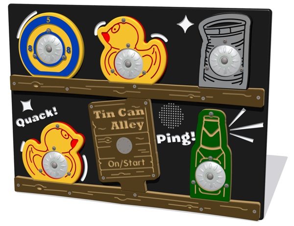 PlayTronic Tin Can Alley Reactions Game Panel