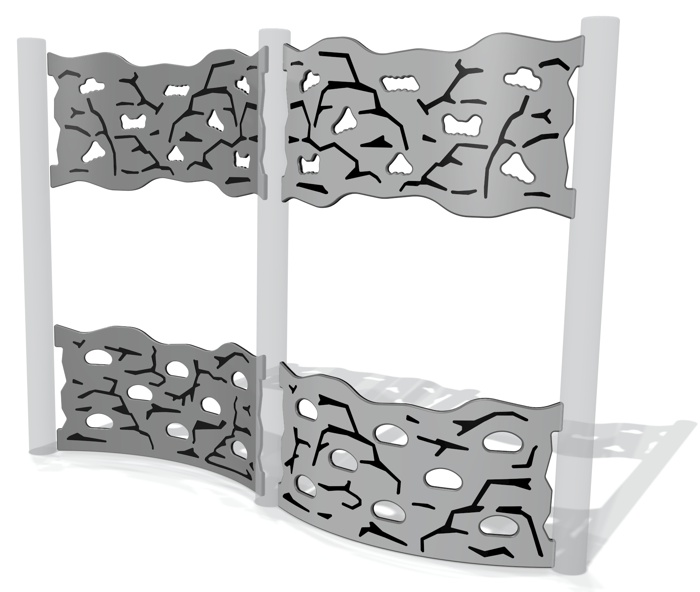 Curved Rock Face Split Traverse Wall (set of 4)