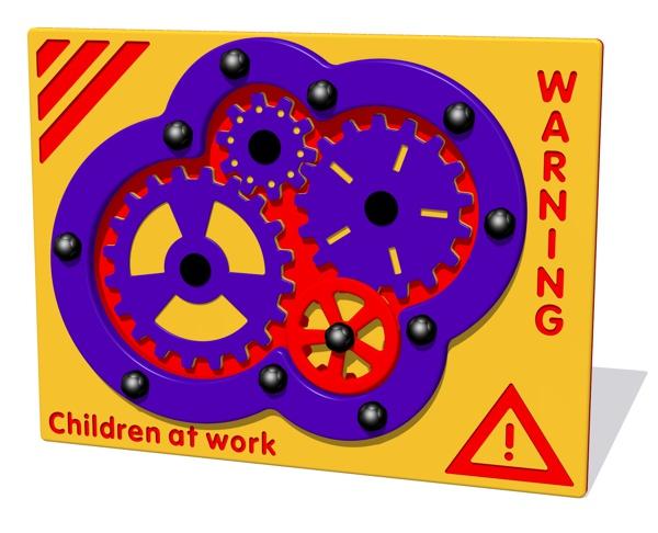 Children at Work Cog Play Panel