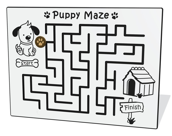 Puppy Maze Play Panel