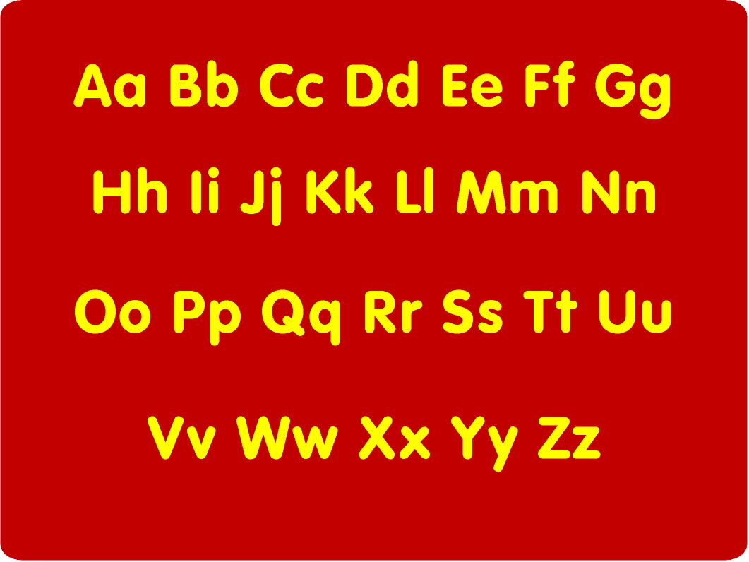 Alphabet Upper And Lower Case