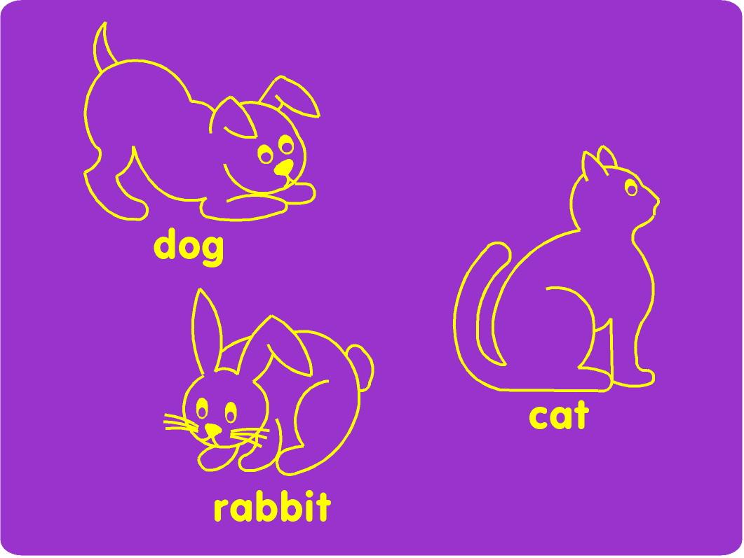 Dog Cat And Rabbit