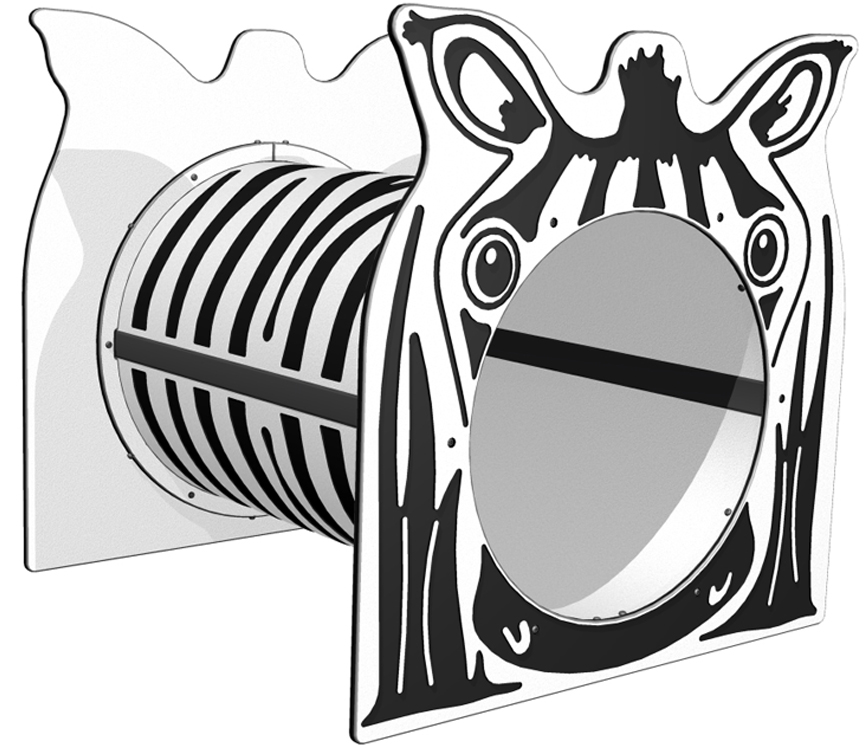 Zebra Freestanding Tunnel