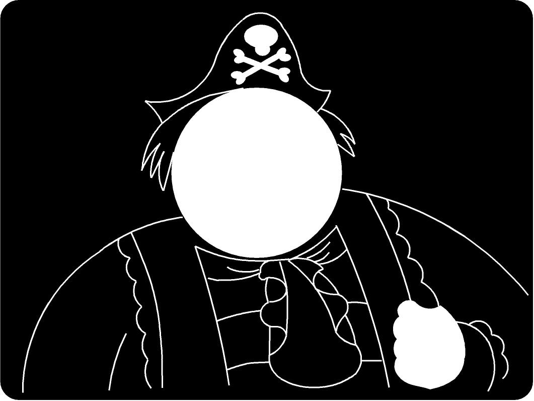 Pirate Head Thru
