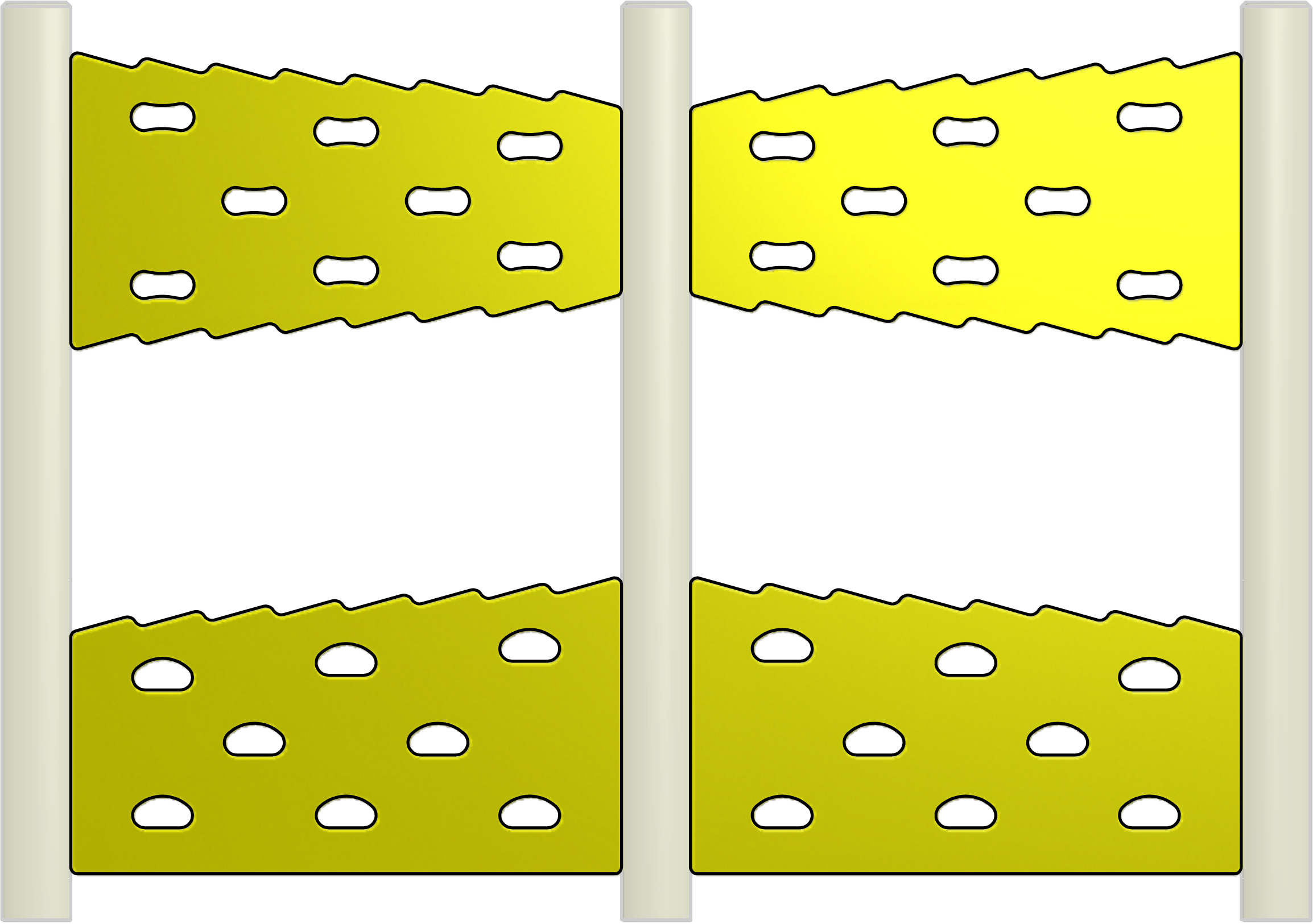 Straight Zig-Zag Spilt Traverse Wall